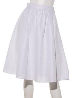 ストライプサークル刺繍スカート
