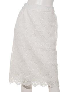 裾スカラケミカルレースペンシルスカート