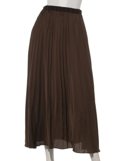 サテン消しプリーツスカート