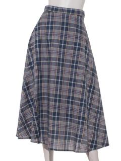 Lugnoncureチェックギャザースカート