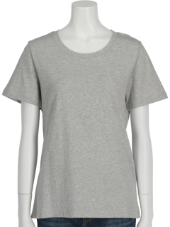 MoniqueUSAコットンクルーネックTシャツ