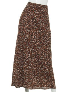 Lugnoncure小花柄シフォンマーメイドスカート