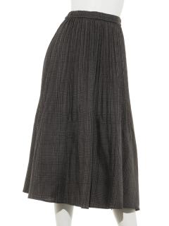 LugnoncureTRチェック消しプリーツスカート
