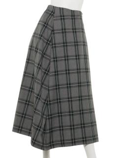Techichi CLASSICTRチェックフレアスカート