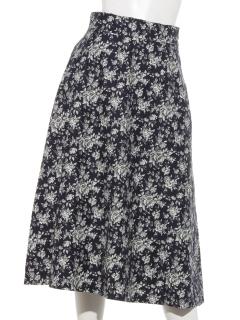 リバティレトロ中花柄スカート
