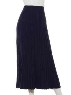 Lugnoncureワイドリブニットフレアスカート