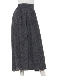 Lugnoncureマイクロ花プリントスカート