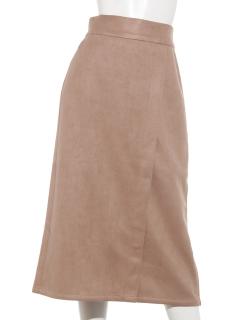 Techichi TERRASSEカットスウェード調アシメタイトスカート