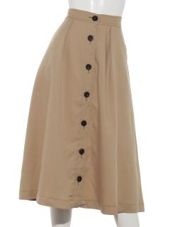Lugnoncure配色前釦スカート