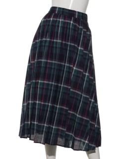 Lugnoncureリネンプリーツスカート