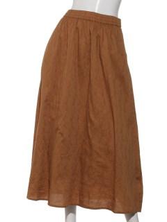 Lugnoncureジャガード柄スカート