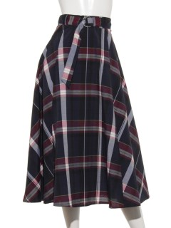 マドラスチェックタックフレアスカート