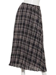 Lugnoncureポリ麻プリ―ツスカート