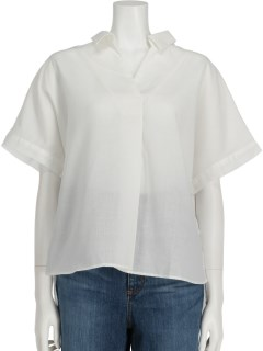 Lugnoncureイージーリネンスキッパーシャツ