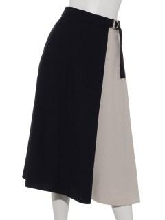 麻調ツイル配スカート