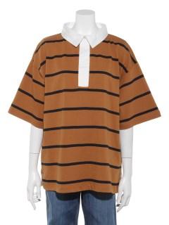 Lugnoncure空紡糸ボーダーラガーシャツ 5S