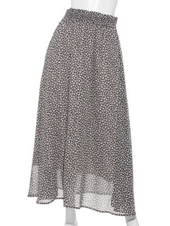Lugnoncure小花柄ギャザースカート
