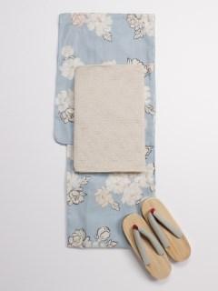 手書き牡丹柄浴衣