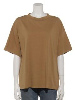 バイオウォッシュスタンドネックTシャツ