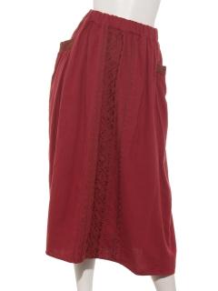 前中心刺繍スカート