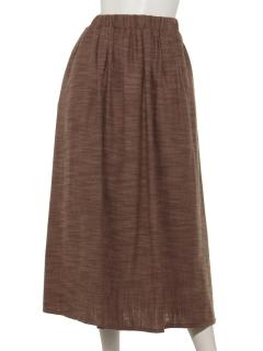 綿スラブ起毛ギャザースカート