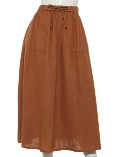 麻レーヨンベイカー風スカート