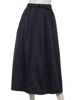 ベルト付タックフレアスカート