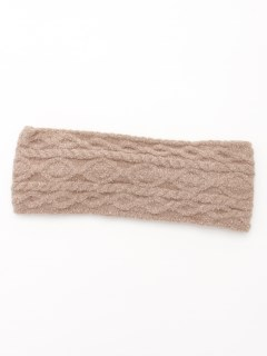 【Et grenier】縄編みミックス柄ニットヘアバンド