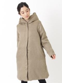 中綿フード付きコート