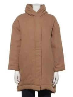 綿麻ツイル中わたフードコート