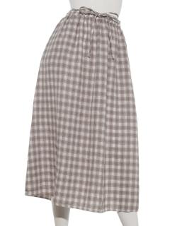 麻柄アソートギャザースカート