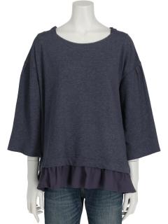布帛裾別布フリルプルオーバー