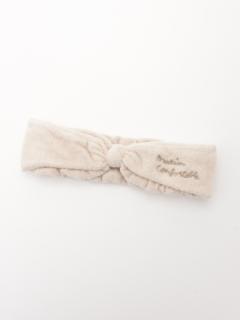 【Et grenier】チェーンステッチ刺繍入りリボンヘアバンド