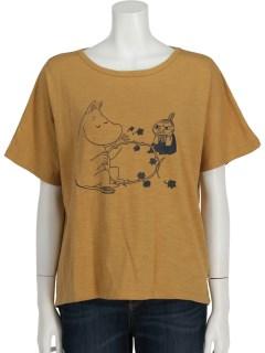 【ムーミン】ムーミン&ミイプリントTシャツ