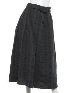 綿麻巻き風スカート