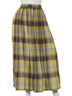 チェックマキシスカート