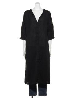 スモッキング袖コート