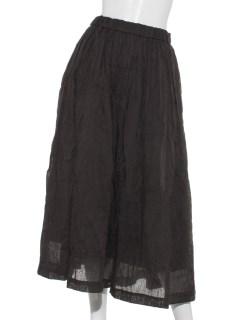 麻混プリーツスカート