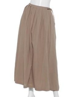 綿麻巻きスカート