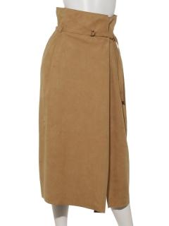 【Ravissant Laviere】人工皮革スエードスカート