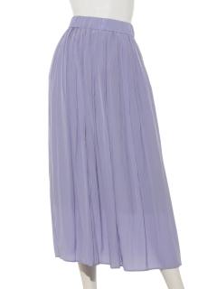 割繊ギャザーロングスカート