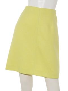 ツィード調台形ミニ丈スカート