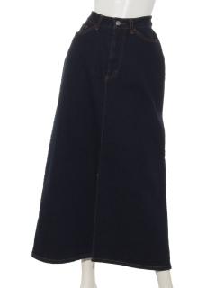 デニム前スリットスカート
