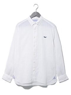 クジラリネンボタンダウンシャツ