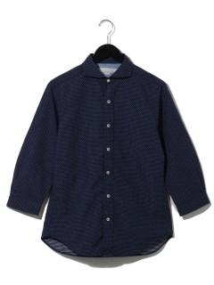 ドットドビー パラシュートボタン 七分袖シャツ