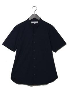 Vネックスタンド半袖シャツ