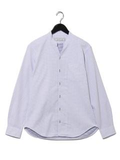 Vネックスタンドシャツ