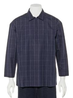 スキッパー七分袖 チェックシャツ