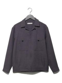 ZIPオープンカラーシャツ