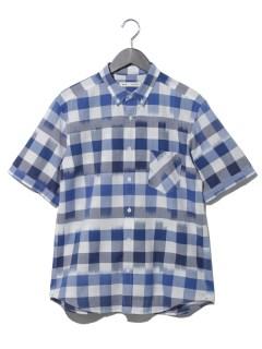 イカットギンガム半袖シャツ
